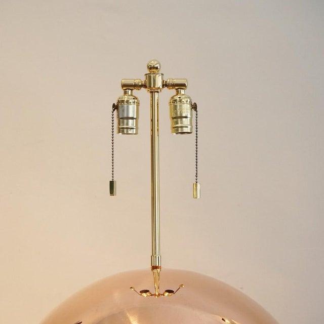 Karl Springer Copper Orb Table Lamp - Image 6 of 7