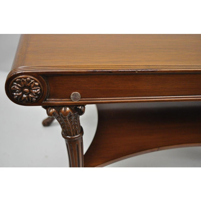Early 21st Century Nancy Corzine French Regency Style Mahogany Saber Leg Coffee Cocktail Table For Sale - Image 5 of 10