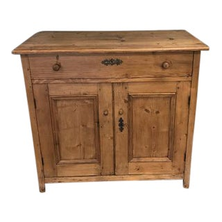 Antique Rustic Pine Buffet