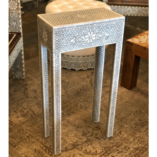Beautiful handcrafted side table. The table is custom design, made in Damascus Syria. Only 1 tables ever been made with...