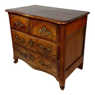 18th Century French Provincial Carved Walnut Commode For Sale