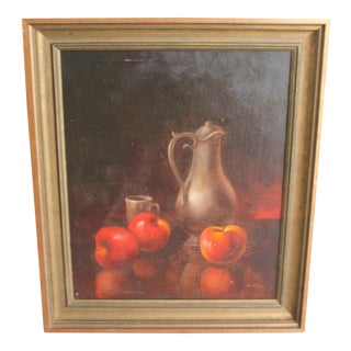 Early 20th Century Oil on Canvas Still Life Painting For Sale