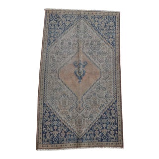Antique Persian Senneh Neutral Rug 2x3 For Sale