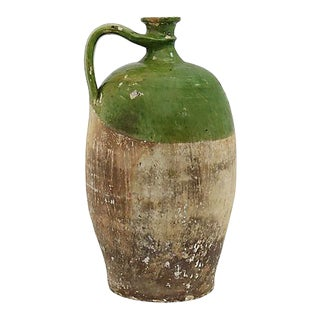 Antique French Terra Cotta Wine Jug For Sale
