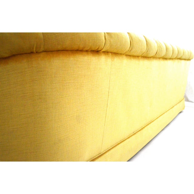 Vintage Yellow Tufted Sofa - Image 5 of 6