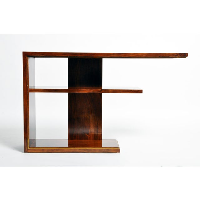 Hungarian Art Deco Console With Shelves For Sale - Image 4 of 13