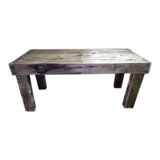 Modern Rustic Pallet Wood Bench For Sale