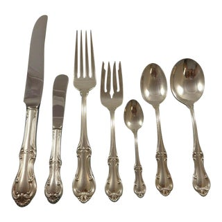 Joan of Arc by International Sterling Silver Flatware Dinner Size Set 88 Pieces For Sale