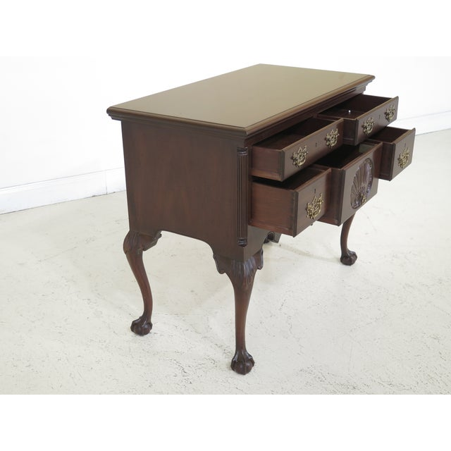 Brown 1980s Chippendale Kittinger Biggs Ball & Claw Mahogany Lowboy For Sale - Image 8 of 12