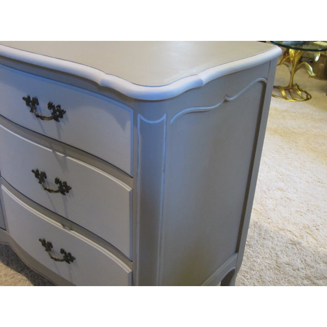 French Country Refinished Two Tone Gray Dresser - Image 4 of 11
