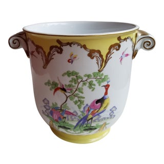 Chelsea House Hand Painted Cachepot With Exotic Birds