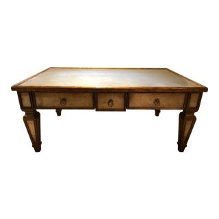 Theodore Alexander Eglomise Coffee Table For Sale