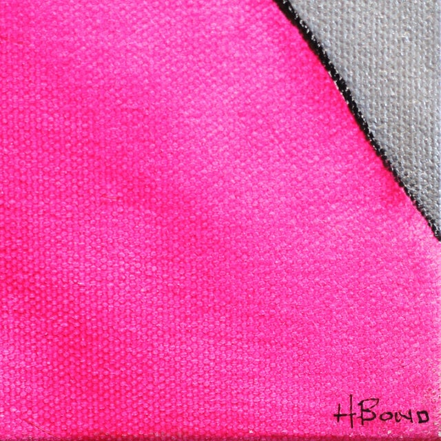 """2010s Hilary Bond """"Pink Gold Silver"""" Original Painting For Sale - Image 5 of 9"""