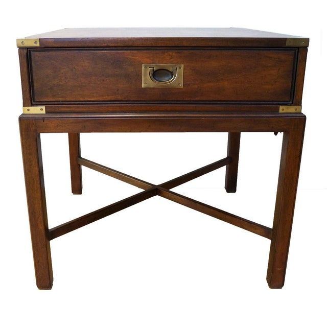 Vintage Campaign-Style Heritage Side Table - Image 1 of 5