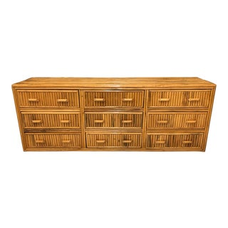 20th Century Split Rattan Triple Dresser For Sale