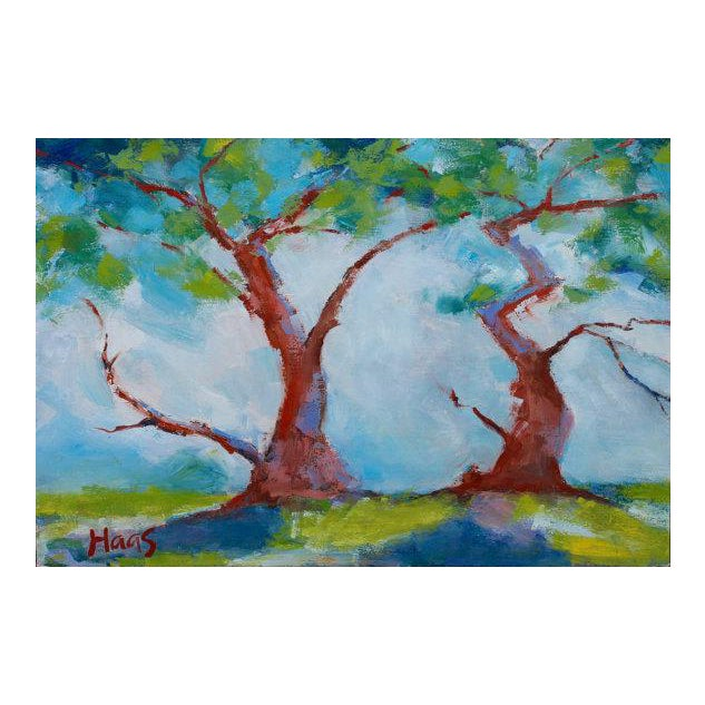 Twisted Cypress Carmel Oil Painting For Sale