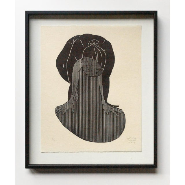 Christian Johnson Untitled, 2016 Linocut Print For Sale - Image 4 of 4