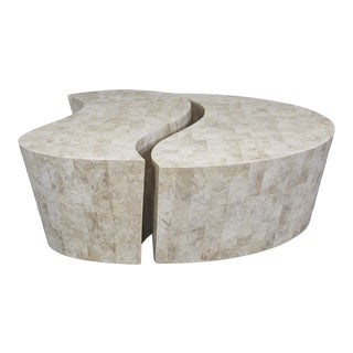 "1990s Contemporary Freeform Tessellated Stone Two Part ""Hampton"" Coffee Table For Sale"