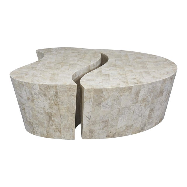 """1990s Contemporary Freeform Tessellated Stone Two Part """"Hampton"""" Coffee Table For Sale"""