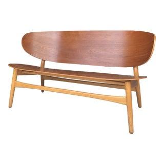 Hans Wegner for Fritz Hansen Shell Settee Loveseat Sofa For Sale