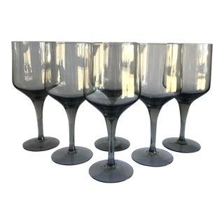 Mid-Century Wine Glasses, Set of 6 For Sale