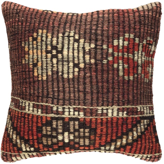 Shabby Chic Reclaimed Kilim Pillow   16 For Sale - Image 3 of 3