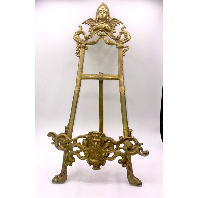 Early 20th Century Antique Gothic Brass Book Stand For Sale In New York - Image 6 of 9