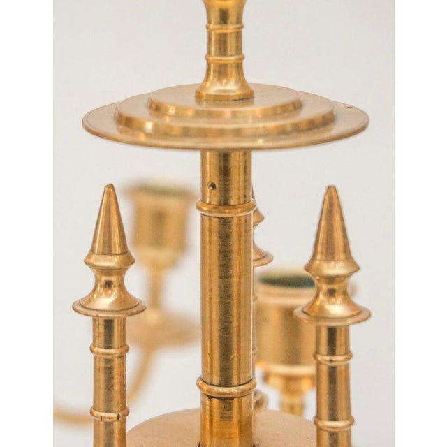 Early 19th Century Brass Candelabrum 19th Century English - a Pair For Sale - Image 5 of 7