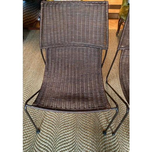 Scoop Form Rattan Lounge Chairs in the Manner of Frederick Weinberg - a Pair For Sale In New York - Image 6 of 10