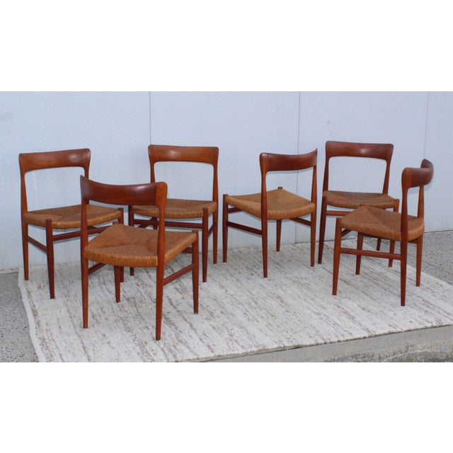 1950's Danish Teak Sculptural Dining Chairs - Set of 6 For Sale - Image 4 of 13