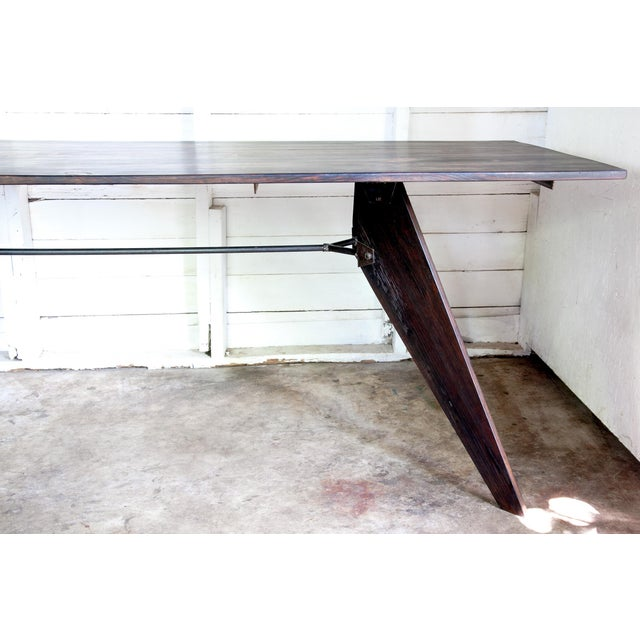 Reviving Jean Prouve atelier's brilliant mid-century industrial design, the 1950 Utility Table is artisan-constructed --...