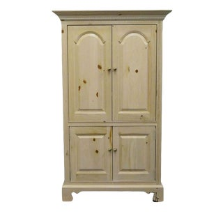20th Century Rustic Thomasville Media Armoire For Sale