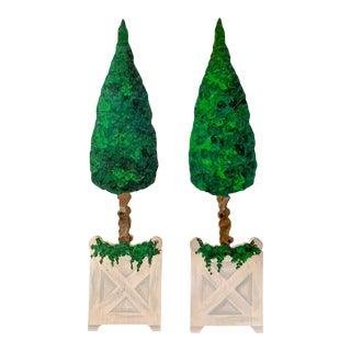 Wood Easel Topiary, Pair For Sale