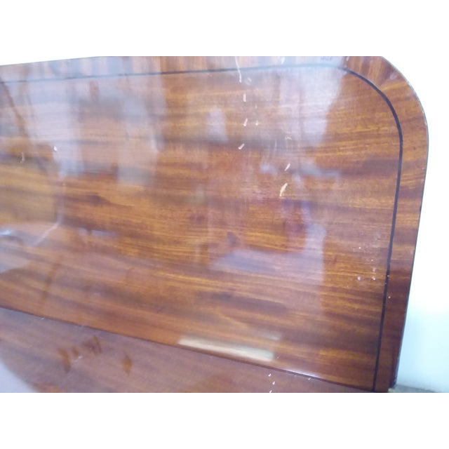 Campaign French Mahogany Game Table With Ebony Inlay For Sale - Image 3 of 7