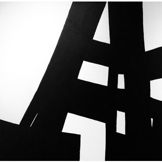 "Kathi Blinn ""High Rise"" Contemporary Black and White Acrylic Painting For Sale"