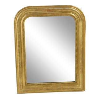 Small Antique Gilt Louis Philippe Mirror From 1800's