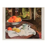 """Image of 1940s Paul Gauguin """"Still Life"""" Original Swiss Lithograph For Sale"""