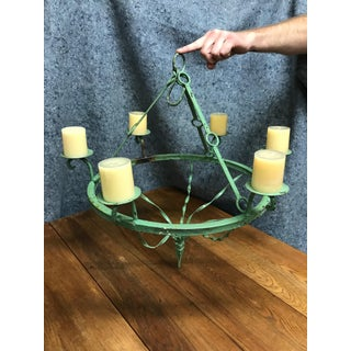 Green Iron Candle Chandelier Preview