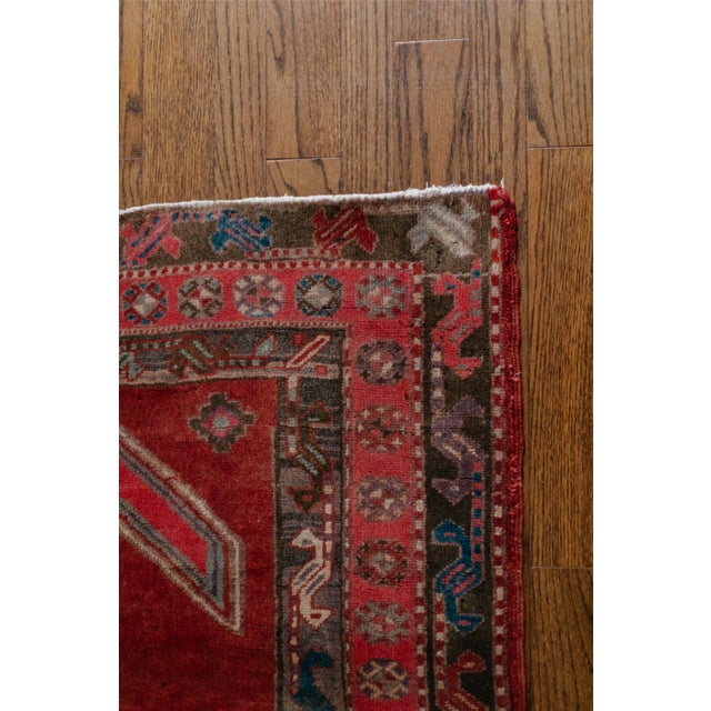 """1940s Vintage Nomadic Persian Rug-4'8'x9'7"""" For Sale - Image 9 of 13"""