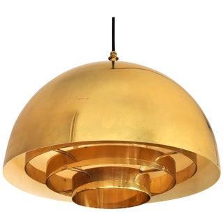 Brass Pendant Lamp by Vereinigte Werkstatten Munchen, 1960s