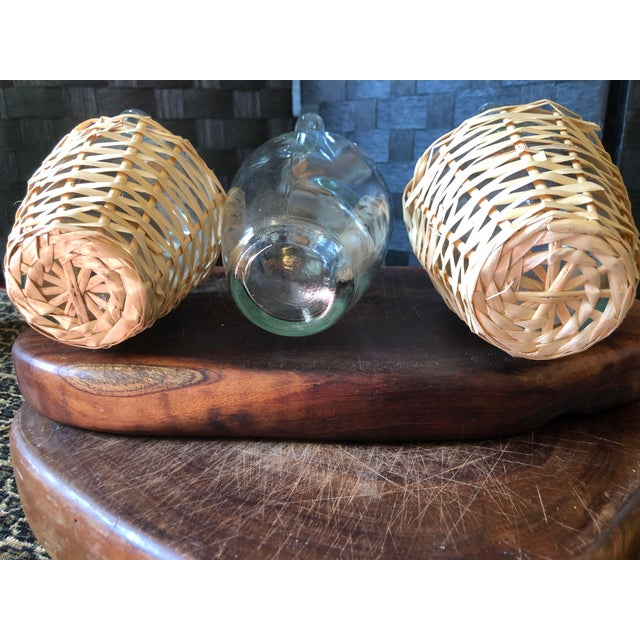 Wicker Wrapped Demijohn Bottles - Set of 3 For Sale In Pittsburgh - Image 6 of 13
