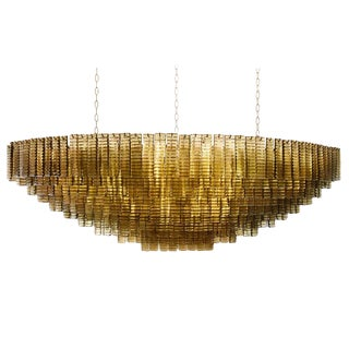 Ship Shaped Murano Piastre Ceiling Light For Sale