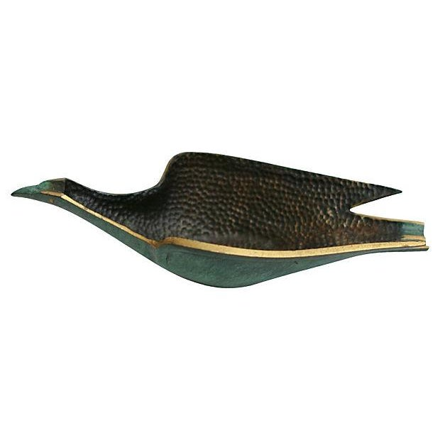 Modern Brass Bird Catchall - Image 2 of 6
