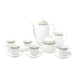 Antique Ginori Porcelain Coffee Tea Set Decorated by Richard-Ginori - 13 Pieces For Sale