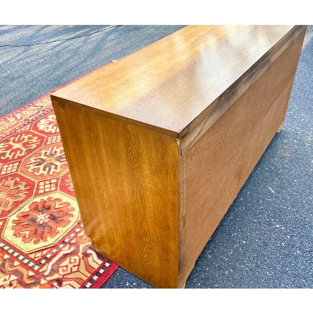 Tan 1970s Mid Century Modern Bernhardt Walnut Campaign Dresser For Sale - Image 8 of 13