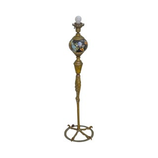 Antique Bronze Ostrich Leg Floor Lamp (Possibly p.e. Guerin) For Sale