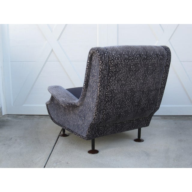 Mohair Marco Zanuso Regent Italian Lounge Chair - a Pair For Sale - Image 7 of 12