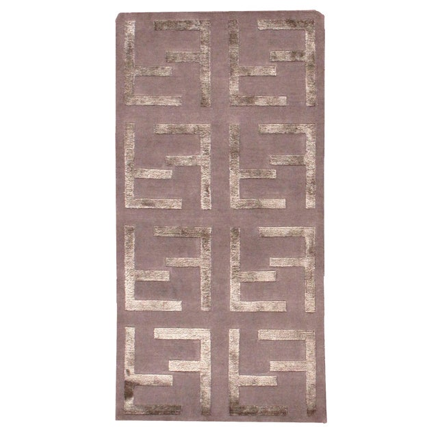 Indian Modern Silk Highlighted Rug- 3' x 5' - Image 1 of 9