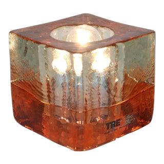 Orange Mid-Century Modern Murano Glass Table Lamp For Sale