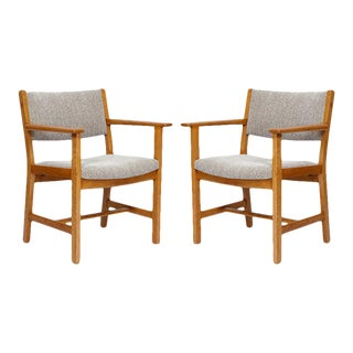Pair of Hans Wegner Armchairs For Sale